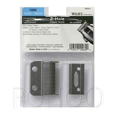 Wahl Super Taper Blade Set No. 1006 Fits MAGIC & All Wahl Full Size Clippers
