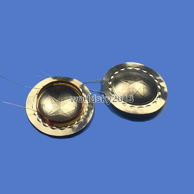 2pcs 25.5mm Horn Treble Speaker Voice Coil Tweeter Titanium Sound Film Repair #1