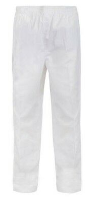 NEW Chef  Pants White Elastic Drawstring Pant Chefscraft