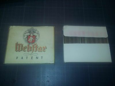 Antique Vintage WEBSTAR patent ZURICH - box FULL 10 cigarillos - COLLECTION