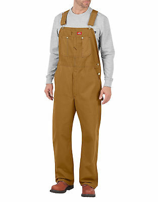 Dickies Overalls Brown Duck Bib DB100RBD Assorted Sizes Rinsed Tough Duck