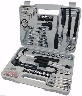 141 PIECE PRO COMPLETE TOOL KIT + CASE Screwdriver Socket Hammer Tool Set New