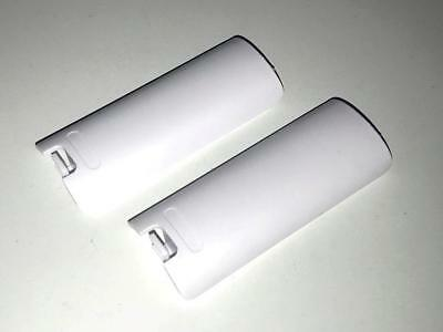 2 x Nintendo Wii White Remote Controller Battery Cover Replacement Wii Mote