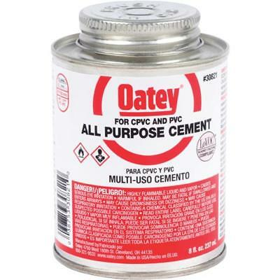 24 Pk Oatey 8 Oz Clear Heavy Bodied ABS PVC & CPVC Pipe & Fitting Cement 30821