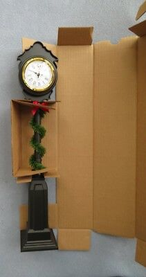 Byers Choice Caroler Street Clock with Garland New in Box