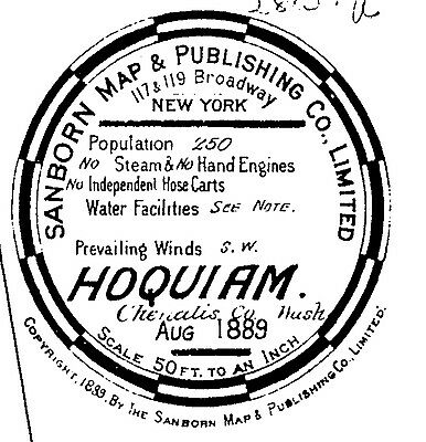 Hoquiam, Washington~Sanborn Map© sheets with 85 maps on a CD