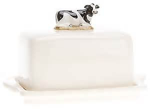 Quail Ceramics - Friesian Cow Butter Dish