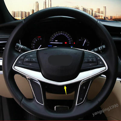 ABS Chrome Steering Wheel Trim cover 1pcs For Cadillac XT5 2016 2017 2018