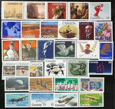 CANADA Postage Stamps, 1980 Complete Year Set collection, Mint NH, See scans