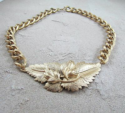 Vintage Brass Necklace - New Old Stock (Miriam Haskell?)