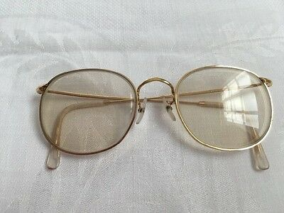 Vintage Algha 12KT GF Gold Filled Eyeglasses Frame Made in England