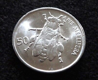 Slovenia 1993 50 Stotinov Bee Coin Honey Bee