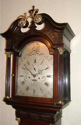 "Superb Georgian Red Walnut ""Brickwork"" Longcase Grandfather clock C1800"