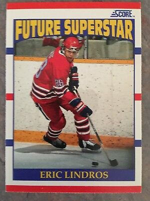 1990/91 Score Hockey Card #440 Future Superstar Eric Lindros Rookie Card NM/MT