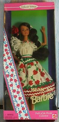 Mattel Barbie Dolls Of The World Collection Mexican 14449 MinGB