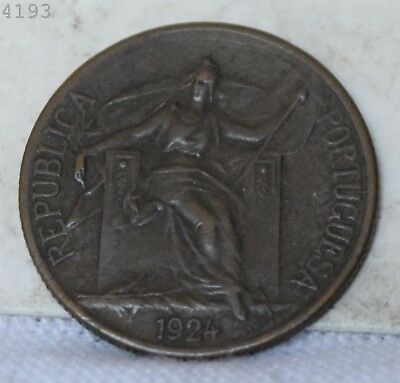 "1924 *Rare* 50 Portugal 50 Centavos ""VF/XF"" *Free S/H After 1st Item*"