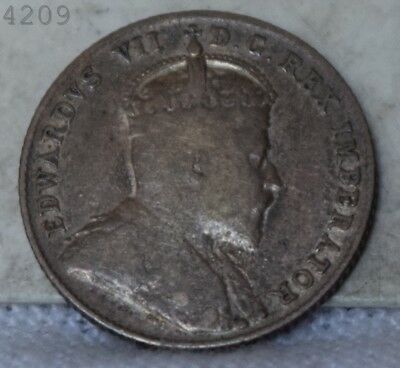 """1908 Canadian 10 Cent """"VF/XF"""" *Free S/H After 1st Item*"""