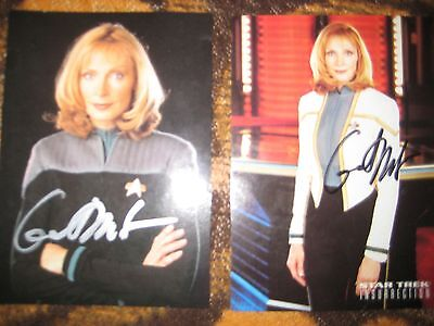 Gates McFadden alias Dr. Beverly Crusher - Star Trek TNG - 2 Autogramme