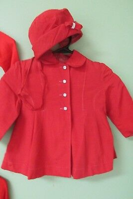 Vintage  Little Red Jacket And Matching Hat