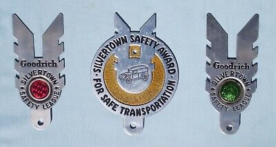 lot of 3 B F Goodrich Safety League license plate toppers