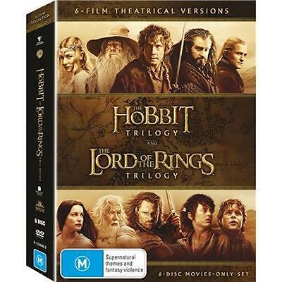 Middle-Earth Collection : HOBBIT & LORD OF THE RINGS Trilogy : NEW DVD