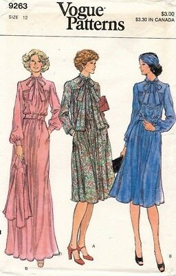 1970's VTG VOGUE Misses' Dress and Jacket Pattern 9263 Size 12 UNCUT