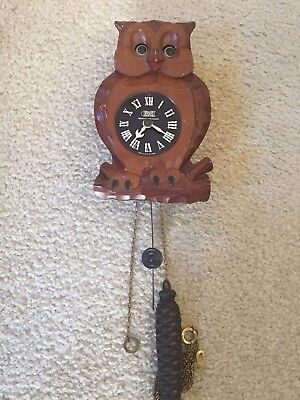 RARE VINTAGE Occupied Japan Owl Clock – Eyes move back and forth!