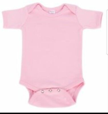 NEW Monag lot infant bodysuit , baby blanks, embroidery . Pink S/S 11 pieces