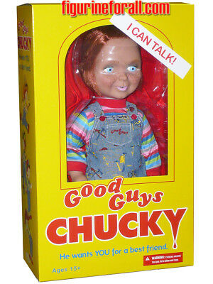 "CHILD'S PLAY TALKING CHUCKY 15"" ""GOOD GUY HAPPY "" MEGA DOLL Sound Bride Mezco"