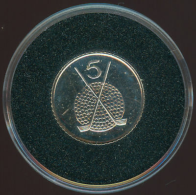 1994 Isle Of Man Golf Club Silver Proof 5 Cents
