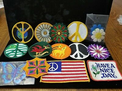 Vintage 1970s Patches, lot of 14