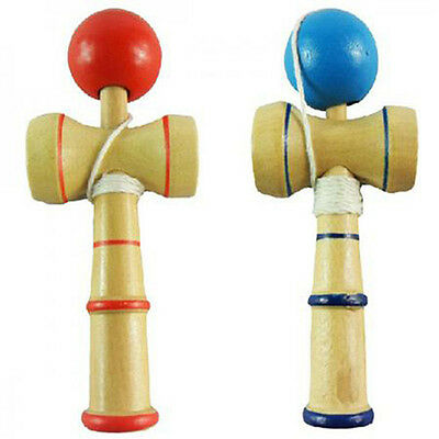 KQ_ Kids Children Traditional Kendama Ball Wood Educational Game Skill Toy Eager