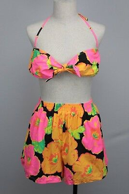 Vintage 80's 90's Cherokee Bathing Suit Bikini Large Swimsuit Two Piece