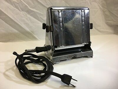 Royal Rochester Antique Toaster Silver with Cord Good Condition