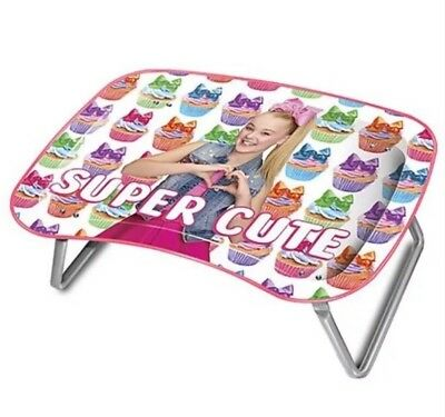 Jojo Siwa Metal Lap Activity Art TV Multipurpose Snack Tray Folds CUTE! 🌈🦄🎀