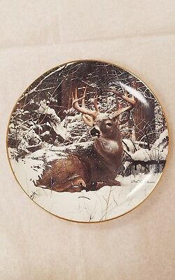 Winter Stag by Bob Travers Danbury Mint Pride of the Wilderness Collection