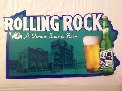 Rolling Rock Metal Beer Sign 1999, A Unique State of Beer