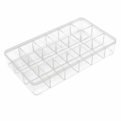 18 Compartment Jewelry Earring Bead Organizer Container Storage Case Clear
