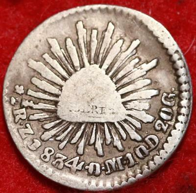 1834 Mexico Real Silver Foreign Coin Free S/H