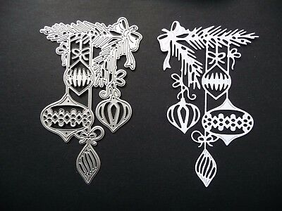 Thin Metal Cutting Die Dies Christmas Hanging Baubles Tree Scrapbook Sizzix