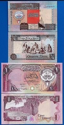 Kuwait P-13 & P-23 Uncirculated Banknotes Set # 1