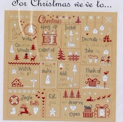 For Christmas - Cross stitch chart & Buttons Advent Calendar - Jardin Prive