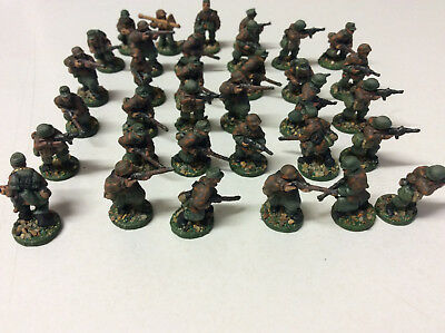 20mm WWII Late War German Infantry painted soldiers x 34