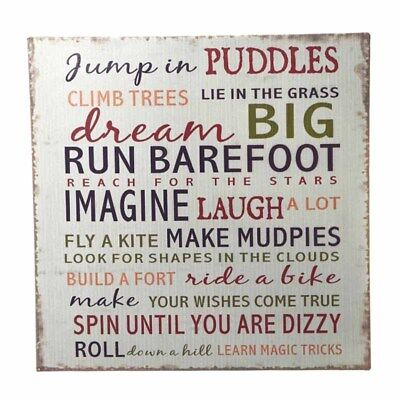 NEW Dream Big Playroom Childrens Bedroom Wall Hanging Metal Sign Plaque Quality