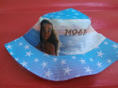 Brand New Moana Blue Cotton Summer Bucket Hat