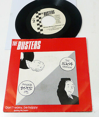 """BUSTERS """"Don't Worry Be Happy"""" M-/VG+ german 1989 Weser Label PS 45 SKA Revival"""