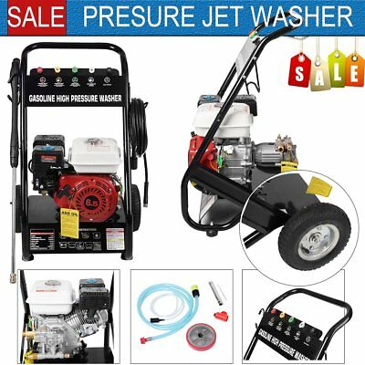 NEW Petrol Power Pressure Jet Washer 2200PSI 6.5HP OHV Engine With 10M Gun Hose