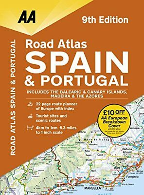 Road Atlas Spain & Portugal by AA Publishing (Spiral bound, 2017)