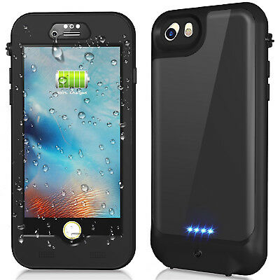 iPhone 8 7 6S Plus Waterproof Battery Charging Case Portable Power Bank Cover