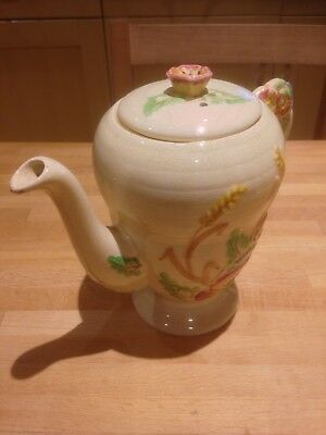 VINTAGE 1940s BRENTLEIGH WARE 'COUNTRYSIDE' HAND PAINTED COFFEE POT